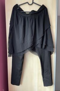 Zara czarne legginsy z tiulową spódniczką