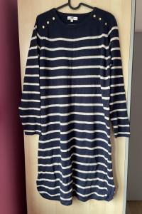 Kappahl hampton sukienka marynarska paski sweterkowa dzianinowa