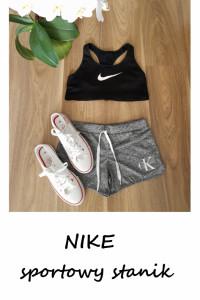 Nike czarny sportowy stanik biustonosz M...