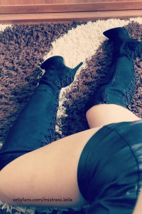 Długie czarne kozaczki na szpilce