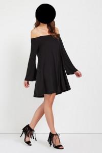 Glamorous czarna luźna sukienka roz 38