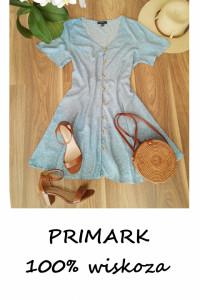 Błękitna sukienka w białe kropki Primark L XL...