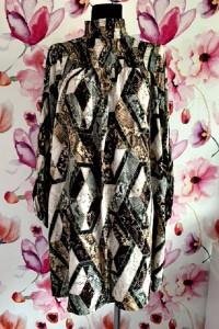 h&m sukienka modny wyszczuplający wzór boho hit 44