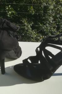Czarne sandały na obcasie Graceland 37 jak nowe
