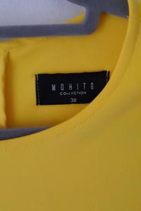 Mohito Żółta neonowa rozkloszowana sukienka 38...