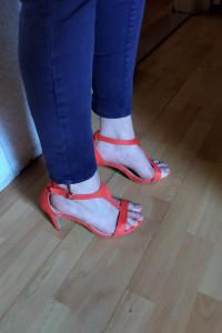 NOWE pomarańczowe sandały Abloom rozmiar 41