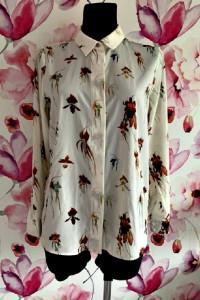 h&m koszula elegancka modny wzór kwiaty floral hit 36 38