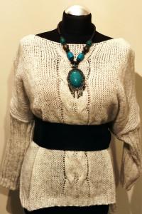 Sweter damski wzór warkocz