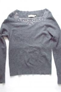 ciemnoszary sweter damski...