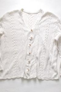 ażurowy sweter ecru
