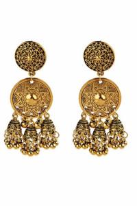 Nowe kolczyki indyjskie złoty kolor dzwonki jhumka folk etno boho hippie bohemian orient