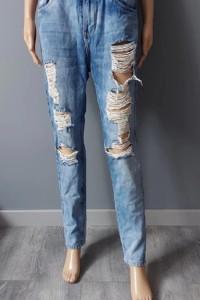 Spodnie Jeans Rurki Dziury 36...