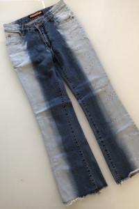 Jeansy ombre z aplikacją 26 XS 34...