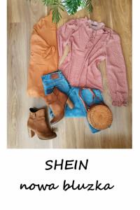 Nowa bluzka w kropki ze stójką Shein...