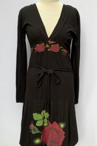 Sukienka Czarna Desigual XL 42 Wzory Boho Rozkloszowana