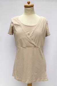 Bluzka Beżowa L 40 H&M Mama Do Karmienia Koszulka T Shirt
