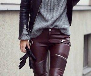 Skórzane spodnie i legginsy